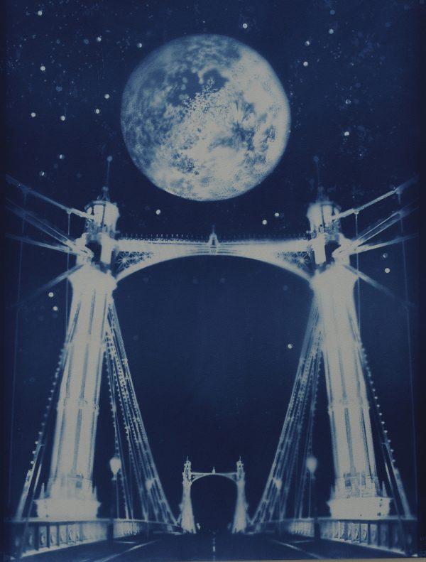 Albert Bridge cyanotype