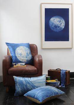 Moon cyanotype