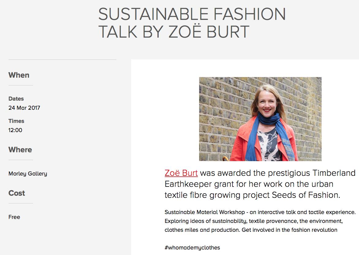 Sustainable Fashion Talk