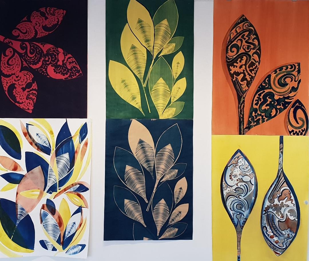 Cultural Patterns - Cyanotype and Natural Dyes